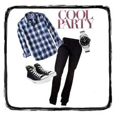 Cool Party by deveeka on Polyvore featuring polyvore Banana Republic Hudson Jeans TAG Heuer Converse men's fashion menswear clothing
