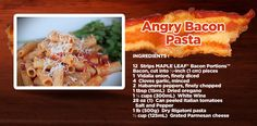 This recipe might be called Angry but we promise the taste will make you happy. Bacon Pasta, Vidalia Onions, Rigatoni, Easy Food To Make, How To Dry Oregano, Stuffed Peppers, Meals, Make It Yourself, Dinner