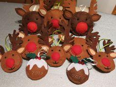 Felt Rudolf Christmas Tree Decorations