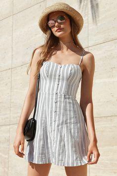 92efb2ac5c Kimchi Blue Lilyanna Linen Button-Down Dress