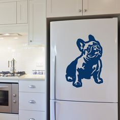 Dog Decal French Bulldog Cuddle, Vinyl Sticker Decal - Good for Walls, Cars, Ipads, Mirrors Etc