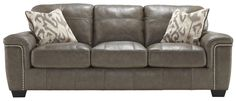 Donnell Contemporary Leather Match Queen Sofa Sleeper by Signature Design by Ashley   Part of the Donnell Collection Sku: 2680039 Dimensions: Width: 90  x  Depth: 39.5  x  Height: 38 Store Availability: In Stock Compare At Price: $3,389.99 Sale Price: $1,799.99