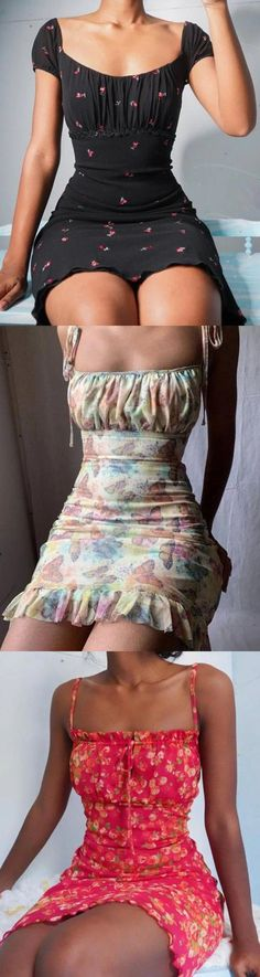 Hot Outfits, Retro Outfits, Cute Casual Outfits, Girl Outfits, Fashion Outfits, Stylish Outfits, Casual Summer Dresses, Summer Outfits, Dresses To Wear To A Wedding