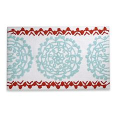 Transform your bathroom into a hip bohemian retreat with the Anthology Bungalow Bath Rug. Decorated with oversized medallions and beautifully fabricated from 100% cotton, this stylish rug will enhance any bath décor.