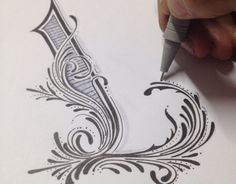 Creative Lettering, Handlettering, Calligraphy, and Behance image ideas & inspiration on Designspiration Calligraphy Letters, Typography Letters, Typography Images, Typography Served, Typographie Inspiration, Creative Lettering, Lettering Ideas, Illuminated Letters, Letter Art