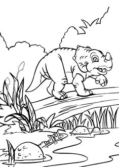 cera dinosaur from land before time coloring pages for kids printable free land before