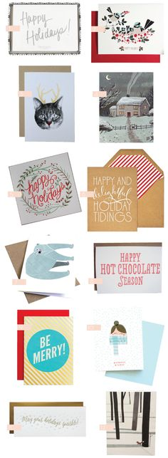 @Sarah Chintomby Therese Cap Cards Holiday greetings on @Kelly Teske Goldsworthy Teske Goldsworthy Beall / Design Crush !