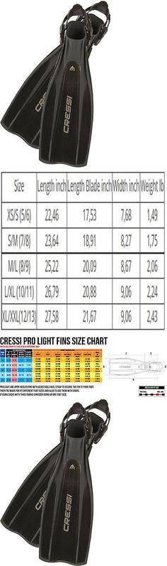 Cressi Light Swim Fins Size Chart