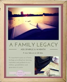 A simple way to leave a legacy that counts- a Journal Bible.