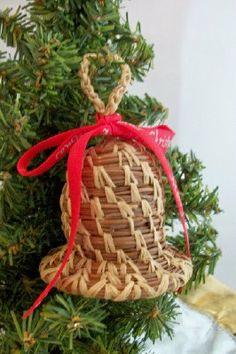 Pine Needle Bell Ornament