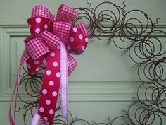 @Rebecca Atchison Wreath made of old bedsprings.