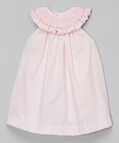 Look at this Pink Smocked Bib Collar Dress - Infant & Toddler on #zulily today!