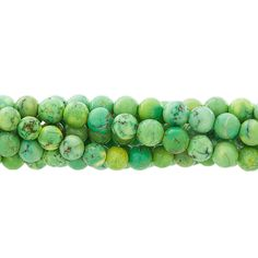 Green Magnesite 6mm Round Gemstone Bead Strand
