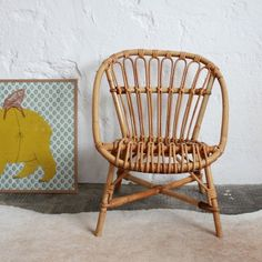 Vintage Rattan Chair For Kids   Atelierdupetitparc.fr Rattan, Wicker, Chair  And Ottoman