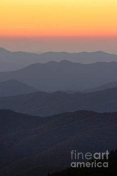 Great Smokie Mountains at Sunset