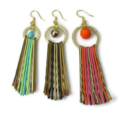 Pink Chandelier Earrings, Upcycled Jewelry