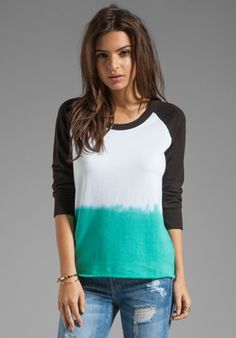 Dip Dye Raw Edge Pullover by James Perse