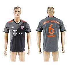 Bayern München 16-17 #Thiago 6 Udebanetrøje Kort ærmer,208,58KR,shirtshopservice@gmail.com