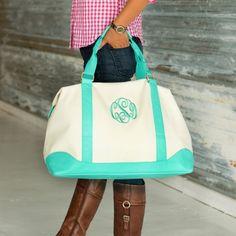 Personalized Mint Weekender Bag
