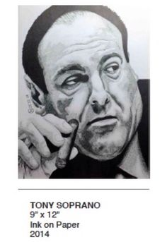 #Pointilism #techPenArt #SharpieArt #Sharpie #InkOnPaper #Portraits #Drawing #Art #FineArt #blackandWhite #TonySoprano #TheSopranos #Badass #BadGuy #Villain #Villains