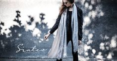 Modern woman look: light but huge scarf and steampunk sunglasses. Rebellious but still classy!   Fall-winter 2016–2017.  Szaleo.pl | Be new fashioned & accessorized!  #scarf