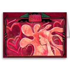 "Veni Vidi Venus (Valentine Card) - Veni Vidi Venus is pseudo-latin for ""I came - I saw - I loved!"" Romantic, imaginative, original digital painting that's perfect for expressing your love on any occasion! (But especially for Valentine's Day and Anniversaries) Matching tote bag & more @ www.zazzle.com/icondoit+hrvinvtns+gifts?rf=238155573613991097&tc=pnt #uniquevalentines #fineartvalentines #originalartvalentines"