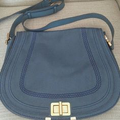 Chloe Marcie Crossbody bag It is a very roomy bag for all your everyday use. In very good shape and non-smoker owner.There are few signs of wear. The inside is very clean. Color is Laguna blue/ Teal. Chloe Bags Crossbody Bags