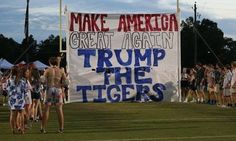 Students reveal Donald Trump banner before football game
