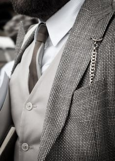 How to wear a pocket watch 2 piece suit