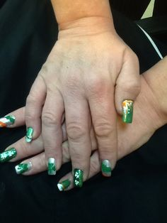 St. Pat's Pride nails by Becki @ Trendsetters Whtsb. NY