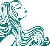 Girl With Long Hair Vector Art 125921012 | Thinkstock