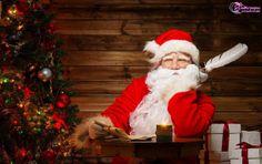 happy holidays happy christmas and new year santa claua wallpaper santa thinking idea