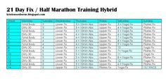 21 Day Fix and Extreme Full and Half Marathon Training Plans  