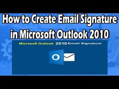 1000 ideas about email signatures on pinterest email for How to create an email template in outlook 2010