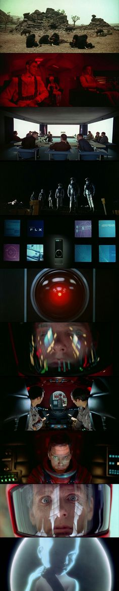 Characters from 2001:A Space Odyssey (1968) Directed by Stanley Kubrick.