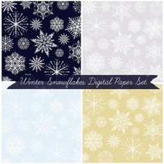 Just Peachy Designs: Free Winter Snowflake Digital Paper Set