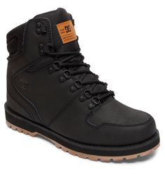 Dc shoes Peary Boot Black buy and offers on Snowinn Mens Winter Boots, Winter Fashion Boots, Mens Boots Fashion, Winter Shoes, Mens Snow Boots, Winter Wear, Ladies Fashion, Dc Boots, Nike Boots