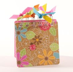 Sticky Note Pad Holder  Bold Blooms by ATouchOfInk on Etsy, $7.00
