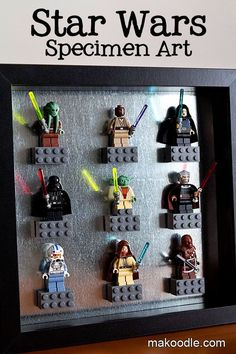 Star Wars Decor Ideas - Lego Specimen Art - Makoodle