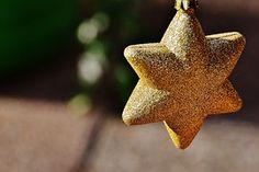 Star, Glitter, Gold, Christmas