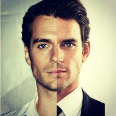 Henry Cavill vs Matt Bomer... their half faces are so darn pretty (similar)