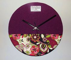 HARRIS TWEED COVERED WALL CLOCK (Large 30cm Diameter) Handmade to Order in the Outer Hebrides  Harris Tweed covered Wall Clock measuring approx.