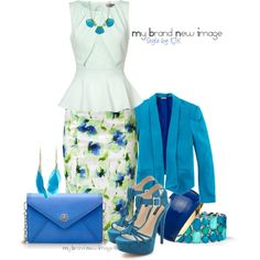 #284 - Greens and Blues, created by elke-koscher on Polyvore