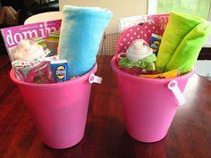 End of year Beach themed Teacher gift basket/bucket.