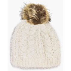 Boohoo Ivy Super Soft Fluffy Faux Fur Pom Beanie Hat ($14) ❤ liked on Polyvore featuring accessories, hats, cream, fedora hat, faux fur pom pom hat, faux fur beanie, fake fur hats and pompom hat