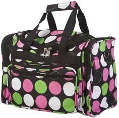 World Traveler Multicolor Polka Dots Duffle Bag 16-inch -- Additional details at the pin image, click it  : Christmas Luggage and Travel Gear