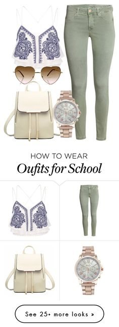 """Back to School Pu leather New White Bag Fashion Backpack"" by myfriendshop on Polyvore featuring River Island"