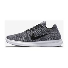 Nike Free RN Flyknit Women's Running Shoe. Nike.com ($105) ❤ liked on Polyvore featuring shoes, athletic shoes, nike footwear, nike shoes, nike, flyknit shoes and running shoes
