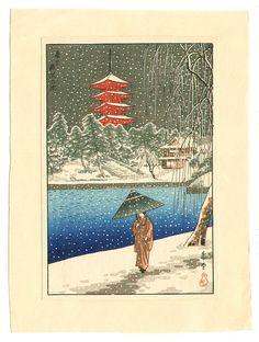 Nishimura Hodo, Sarusawa Pond in the Snow (ca.1930)