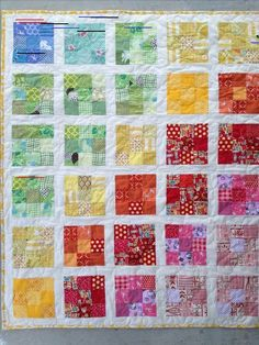mini quilts using 2.5 inch squares   ... , using 2 inch white strips to separate the blocks (1.5 inch final
